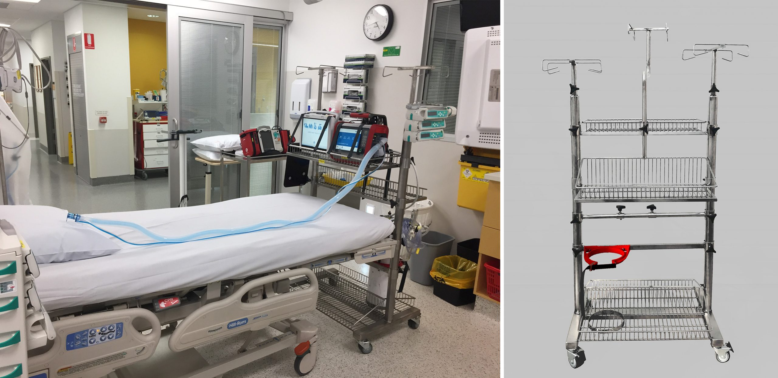 Integrated ICU Bed trolleys