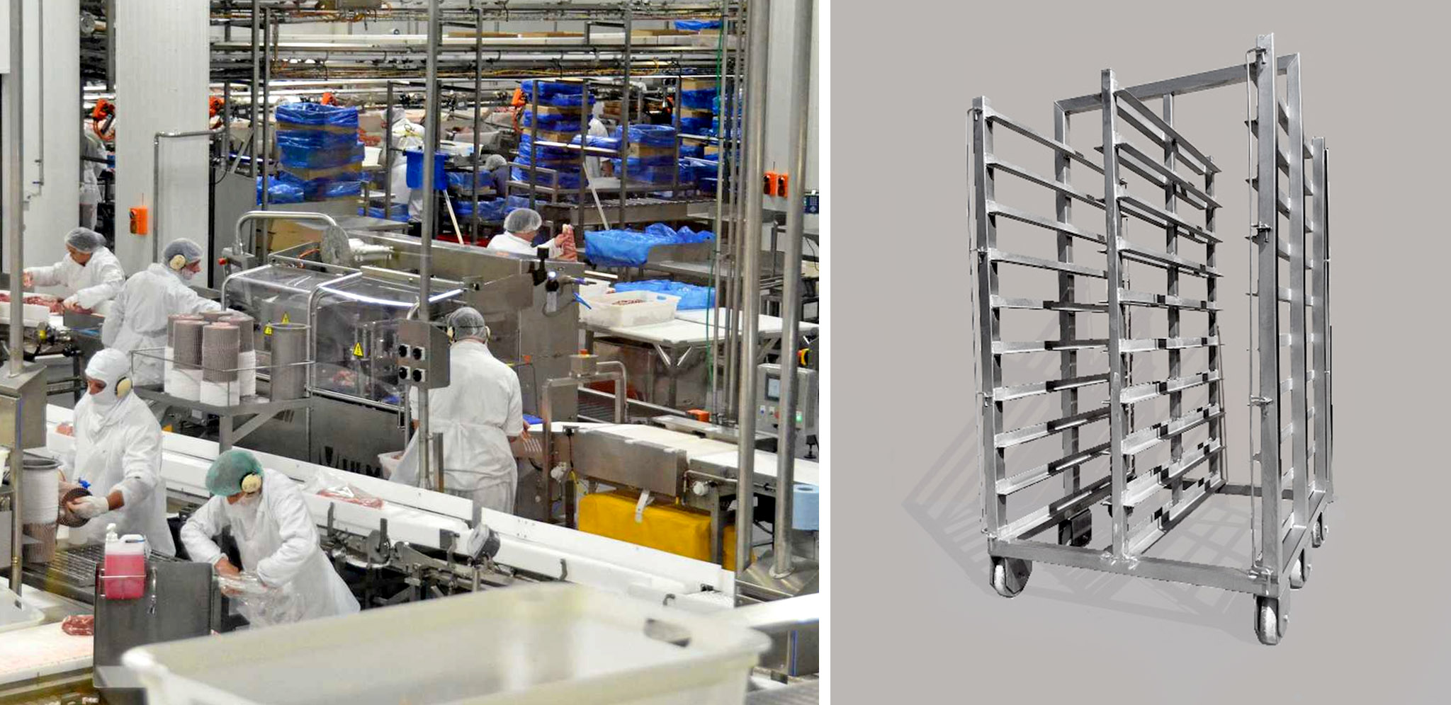 Upgraded stainless steel smoking trolley